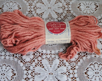 Vintage Kentucky Soft Spun Yarn Dusty Rose Rayon Cotton Blend