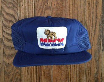 Vintage Mack Trucks Mesh Trucker Hat Snapback Hat Baseball Cap