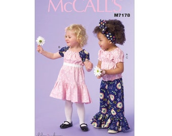 McCall's 7178 - Toddlers'/Children's Top, Dress and Pants