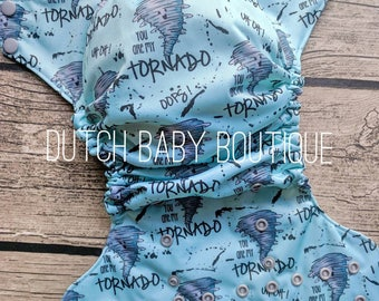 You Are My Tornado Cloth Diaper - Made To Order