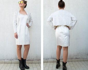 1980s wedding dress-Vintage wedding dress-wedding pop-handmade wedding dress-macramé wedding dress