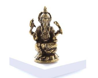 Miniature Brass Ganesh