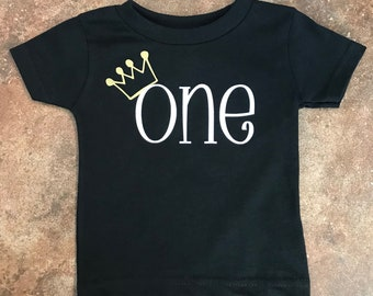 Adorable 1st Birthday t shirt for your little prince to wear for his first birthday party