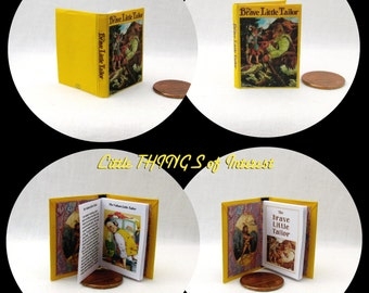 The BRAVE LITTLE TAILOR 1:6 Scale Readable Book Can Open (bjd Momoko Barbie)