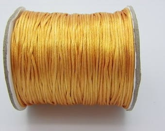 1 spool of waxed cotton cord 1 mm with 25 metres of orange