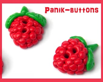 Handmade raspberry button