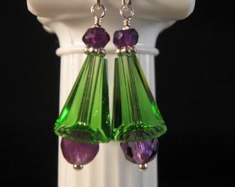Gemstone Crystal Dangle Earrings, gemstone earrings, gemstone jewelry, crystal earrings, crystal jewelry, artemis crystal, drop earrings