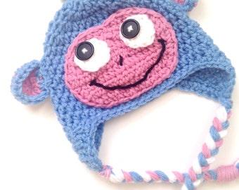 PATTERN** Crochet Boots hat, All Sizes, Newborn to Adult, Dora Hat, Boots Hat, Crochet Hat Pattern