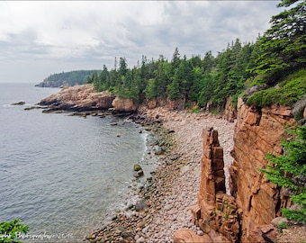 Monument Cove Acadia National Park Maine Landscape Fine Art Canvas Wall Art Canvas Wall Hanging