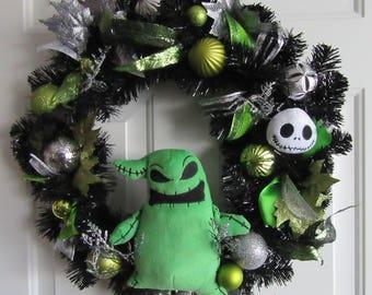 Nightmare Before Christmas Wreath Jack Skellington Oogie Boogie