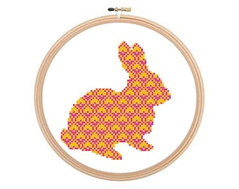 Ornamental Rabbit - Cross stitch pattern, Animal Cross Stitch, Animal Pattern, Rabbit Cross Stitch, Rabbit Pattern, Hare Cross Stitch