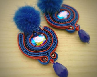 Soutche Blue Berry Earrings