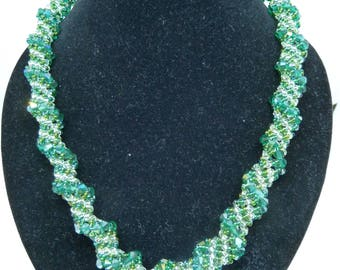 Emerald Spiral Necklace