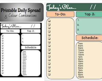 Printable Daily Spread