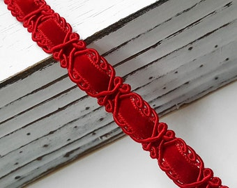 "5/8"" Braid Ribbon Trim for Costume, Crafts and Sewing by yard, STEP-7540"