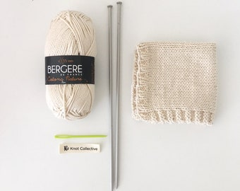 Betty facecloth Knitting Kit