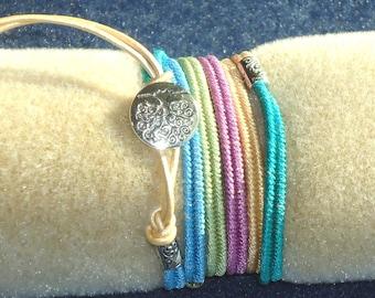 Friendship bracelet, wrap bracelet,boho jewelry, macrame bracelet, micro macrame, knotted jewelry, minimalist, hippie, chic