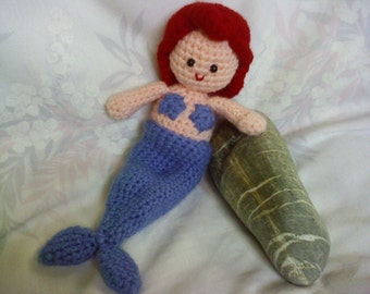 INSTANT DOWNLOAD PDF - The Little Mermaid became a girl - amigurumi doll crochet pattern