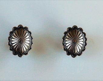 Native American Navajo Sterling Silver Stud Earrings