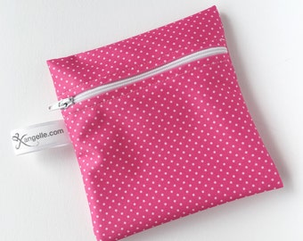 Small Pink Dot Reusable Baggie
