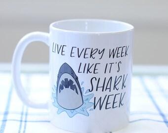 Shark Coffee Mug, Coffee Gifts, Beach House