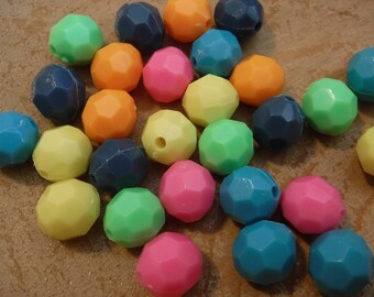 28 Bright Chipped Beads