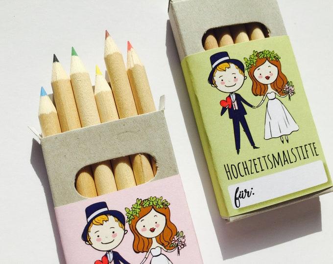5x crayons Wedding-Guest gift wedding