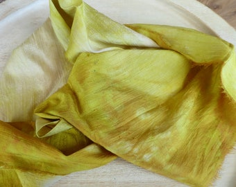 Hope Jacare Creative Textiles Hand dyed dupion Silk fabric approx 25 x 100 cm - HDSF39