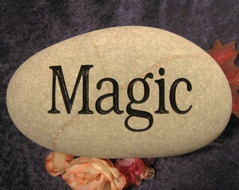Engraved Word/Name Stones/Rocks, Gifts, Personalized-one word or image