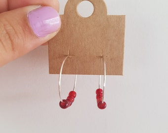 Small Hoops (RED)