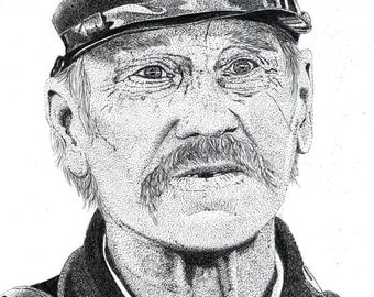 Art Print - Pen & Ink Drawing, A4 - Yankee Soldier