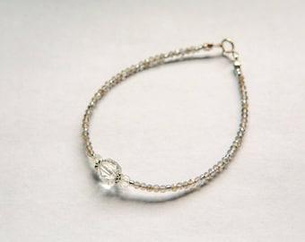bracelet with  Mystic Labradorite