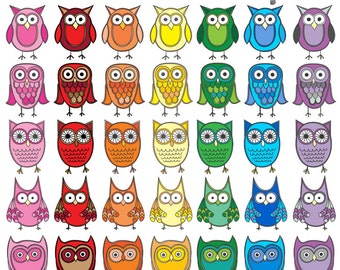 Commercial Use Owl Clipart, Instant Digital Download, Owl Clip Art
