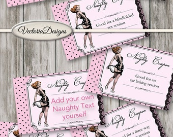 Printable Naughty Coupon Book Sex Coupons Printable Man Gift Printable  Woman Gift pink dots instant download