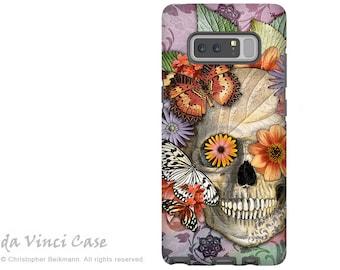 Butterfly Sugar Skull Galaxy Note 8 Case - Day of the Dead Case for Galaxy Note 8 - Butterfly Botaniskull - Dia De Los Muertos Art