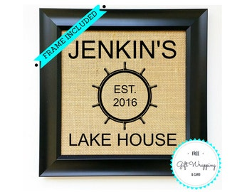LAKE HOUSE Family Sign {Multiple Designs} Welcome to Our Lakehouse Housewarming Gift House Warming Gifts for New Home Unique Gift Idea Ideas