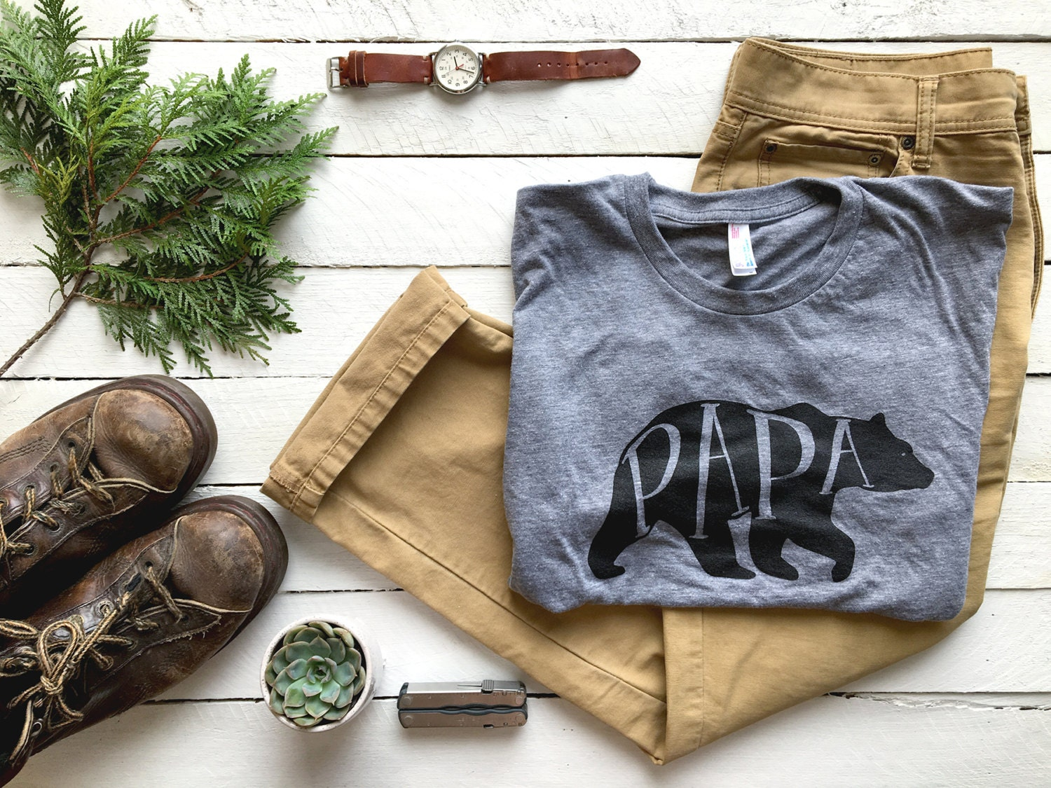 Unique gift ideas for him etsy papa bear t shirt unique gift for fathers hand lettered typographic bear negle Gallery