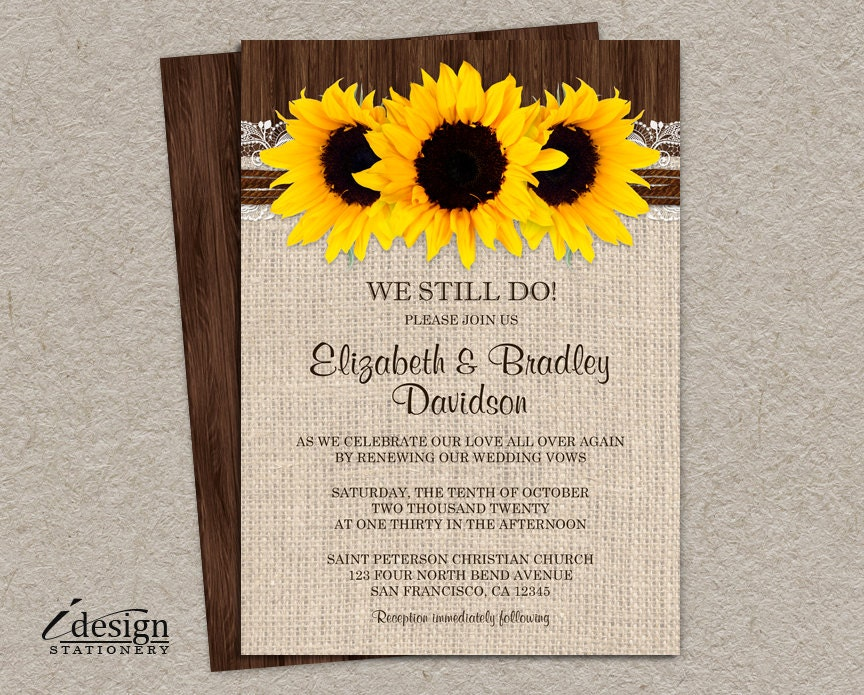 wedding vow renewal invitations Wedding Decor Ideas
