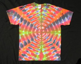 Retro Radio Wave Tie Dye Large Shirt #116