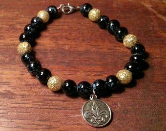 New Orleans beaded bracelet