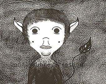 Little Devil - Matted Print