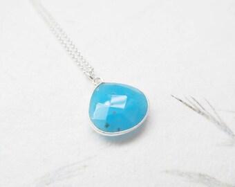 Opal necklace, gemstone necklace, sterling silver necklace