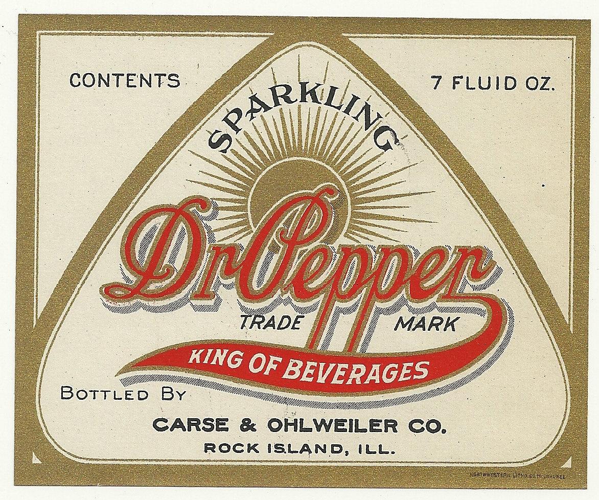Vintage Original Unused 1920's Dr. Pepper Soda Bottle