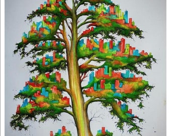 Poster Print of Urban Growth 1