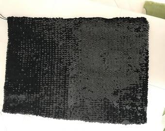 Elastic strapless black sequin 35 * * 49 cm