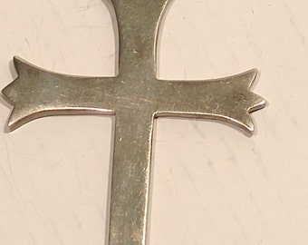 Large 925 Sterling Mexican Religious Cross Pendant