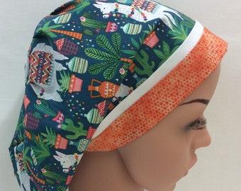 Surgical Scrub Cap, Chemo Cap, Nurse Hat, Scrub Hat, European Bouffant