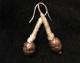 African Brass Bead Earrings