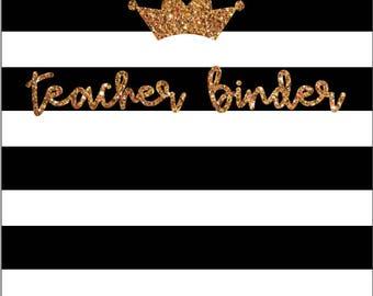 Teacher is the Queen Binder Covers