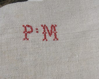 Vintage French Homespun Linen / Chanvre Sheet ~ 19th century